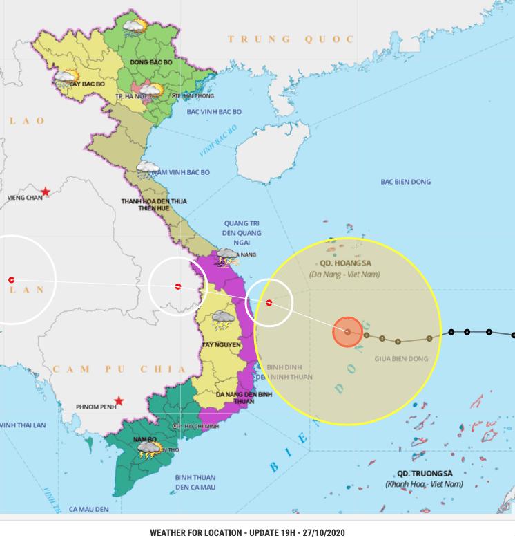 Trajectory Typhoon Molave