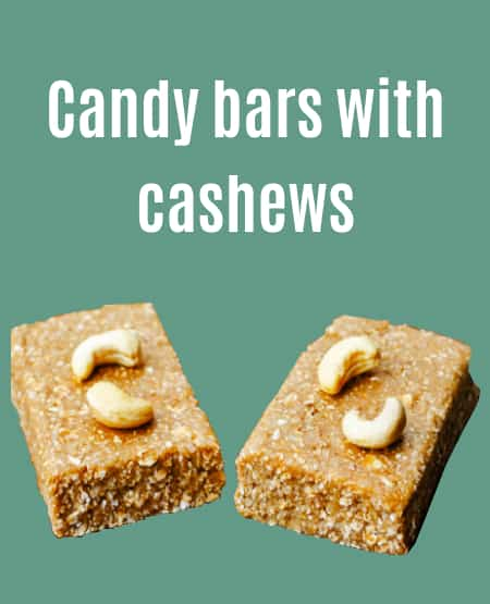 Candy bar cashew product