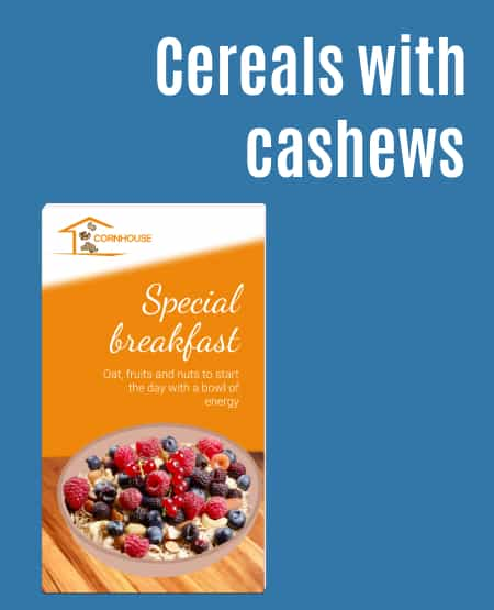 Cereals with cashews