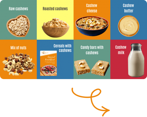 airplane ticket cashew products